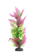 AquaManta Plastic Plant - Purple Fern/Narrow Ludwigia (40cm)