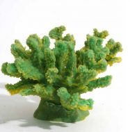 Blue Ribbon Branch Coral Ornament - Green - Medium