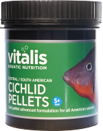 Vitalis Central/South American Cichlid Small+ Pellets (120g)