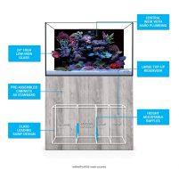 Evolution Aqua eaReef Pro 1500S Aquarium and Cabinet (inc. sump with adjustable baffles)
