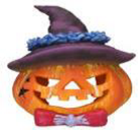 Superfish 'hat' pumpkin ornament (11.5 x 11.5 x 12cm)
