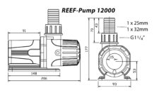 Reef Pump 12000 Dims Diagram 1479817449