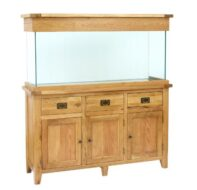 Aqua Oak 150cm 'Drawers & Doors' Aquarium and Cabinet (AQ150DD)