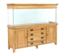 Aqua Oak 180cm 'Doors & Drawers' Aquarium and Cabinet (AQ180DD)
