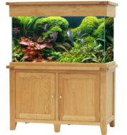 Aqua Oak 120cm x 60cm '2 Doors' Aquarium and Cabinet (AQ120D)