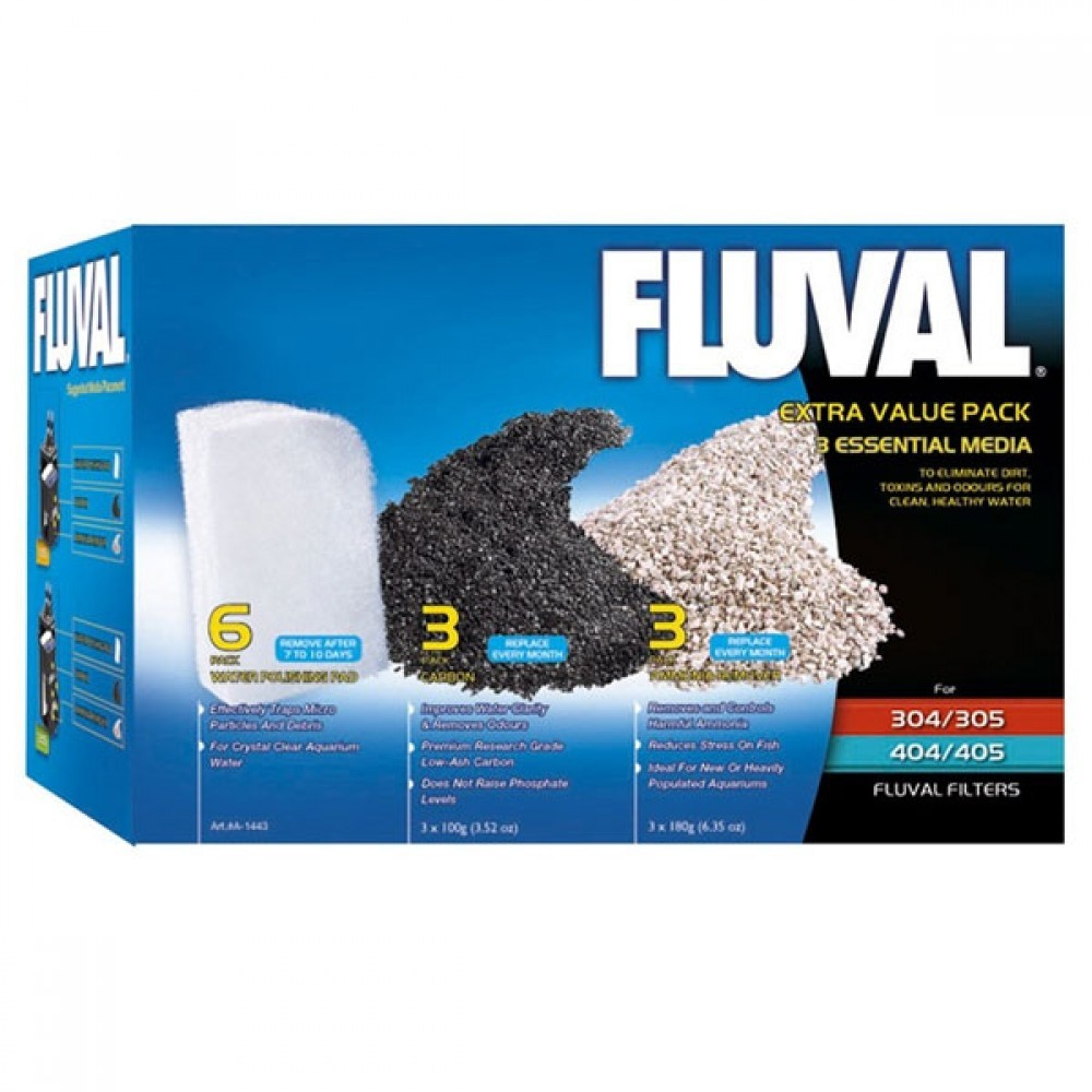 Fluval Extra Essential Media Pack 305 405 306 406 1000X1000