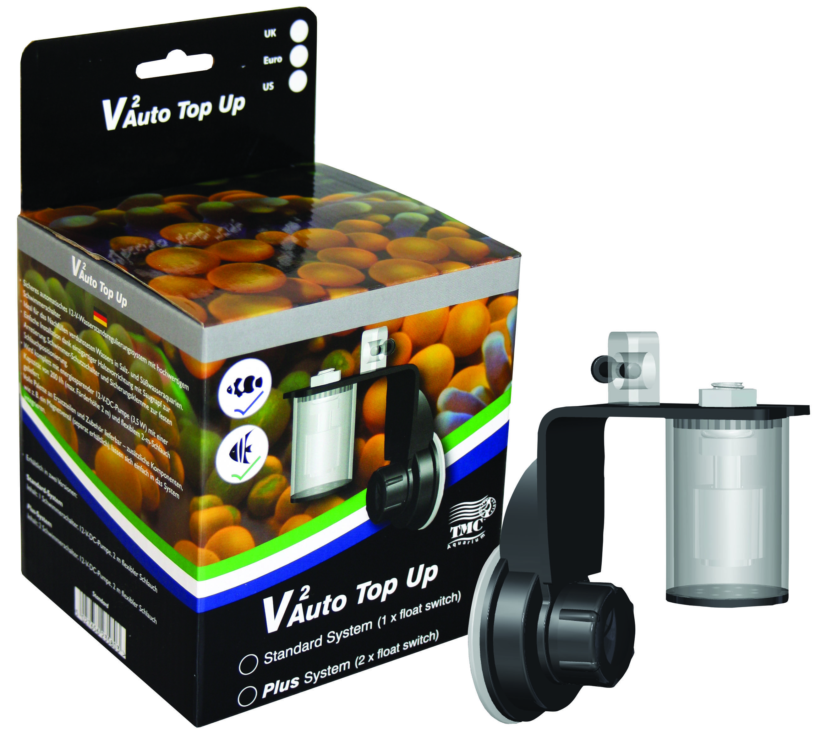 Marine saltwater tmc reef-fill auto top up system ato unbox & demo.