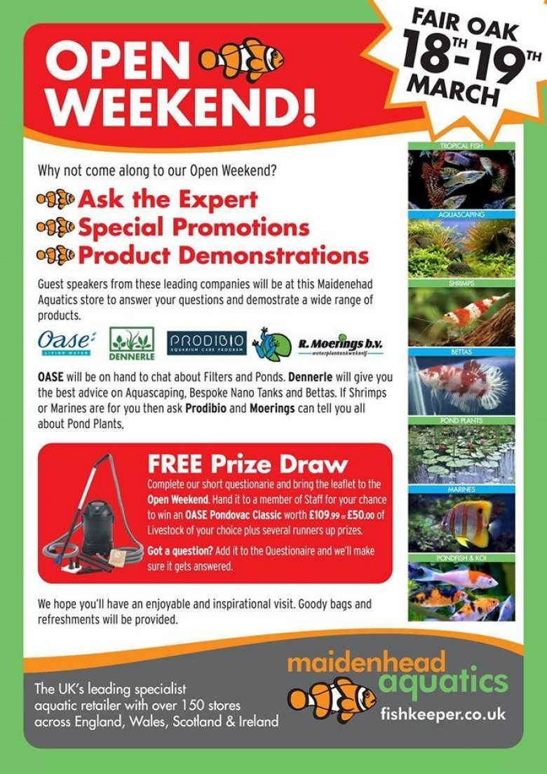 Fair Oak Open Weekend Poster