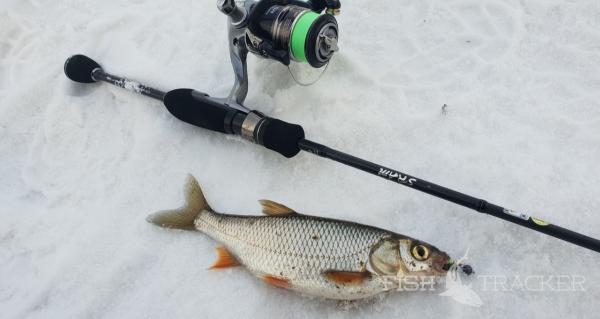 Удачная рыбалка на зимней реке