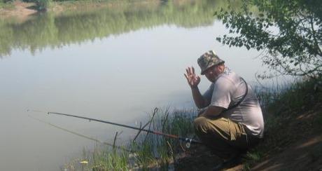 Весення рыбалка в Оребургской области на карьере