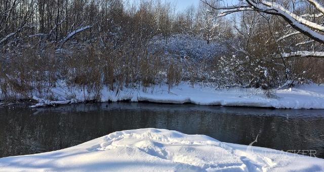 Особенности ловли на микро-речках в зимний период .