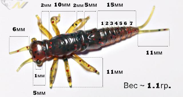 Обзор съедобной, силиконовой личинки стрекозы Lucky John Nayada. Не спортивно, зато уловисто!