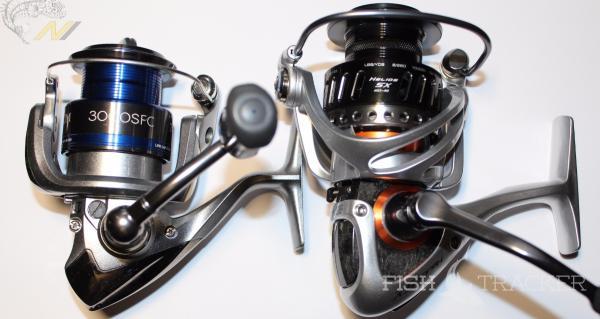 Первое сравнение: Okuma Helios HSX-40FD и Shimano Technium 3000SFC.