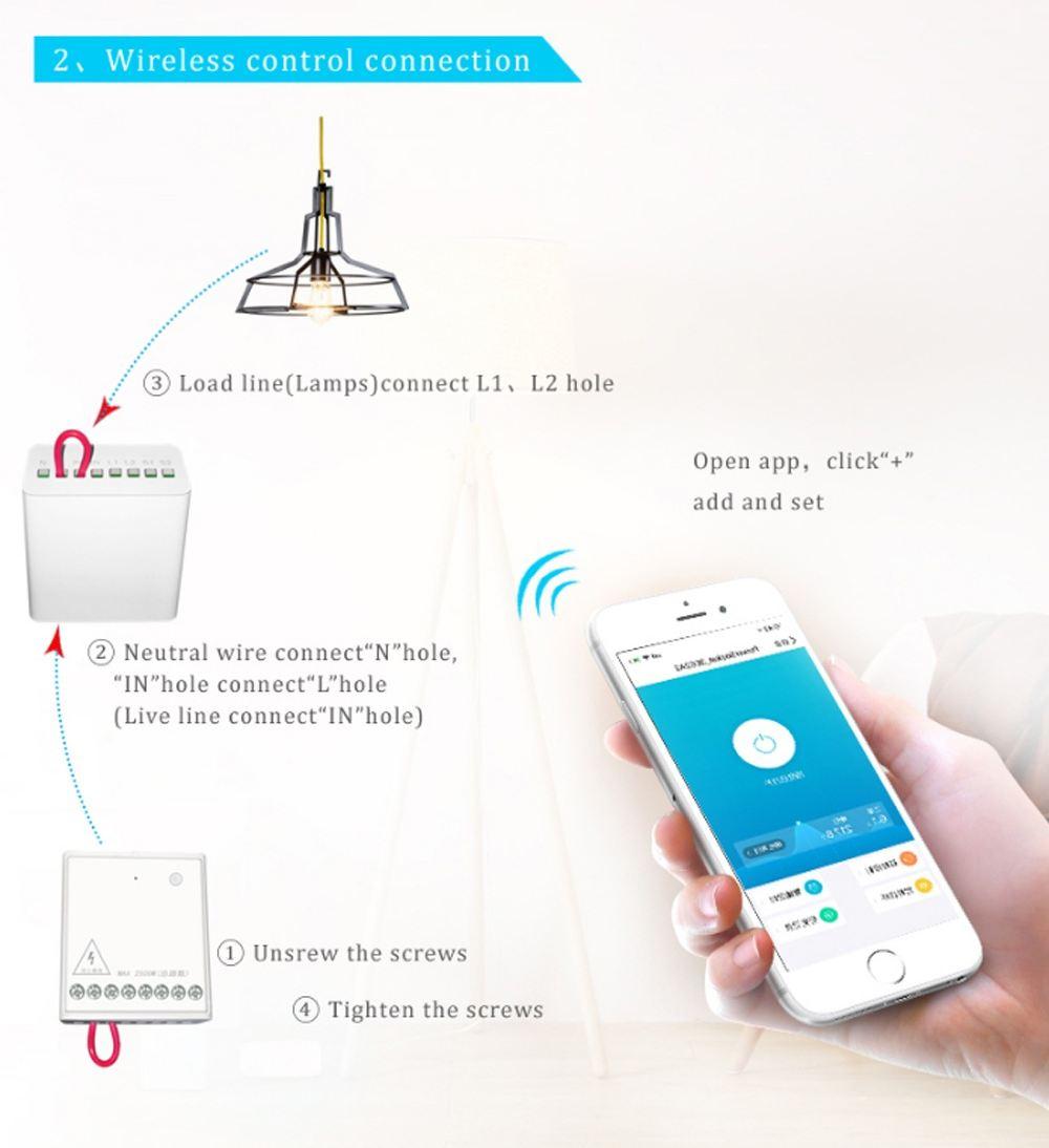 AQara Two-way Module est un petit boitier où vous pouvez connecter des cables pour des appareils. Cela vous permet de les contrôler avec une application.