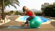 Fitness für Schwangere - Stretching (mit Ball)
