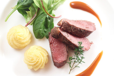 Lammfilet mit Gemüse und Püree