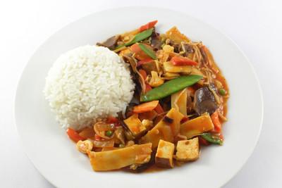 Asiatisches Gemüsecurry   mit Tofu