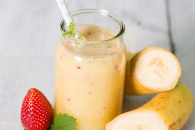 Sanddorn-Bananen-Shake