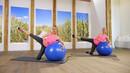 Gymnastikball-Workout - Po & Rücken