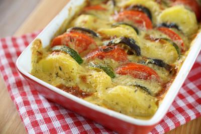 Zucchini-Tomaten Auflauf