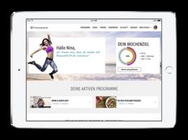 fitnessRAUM.de auf dem iPad