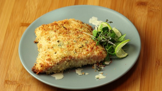 Recipe: Low Carb Salmon with a Herb-Parmesan Crust