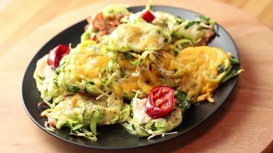 Rezept: Low Carb Zucchini Nester
