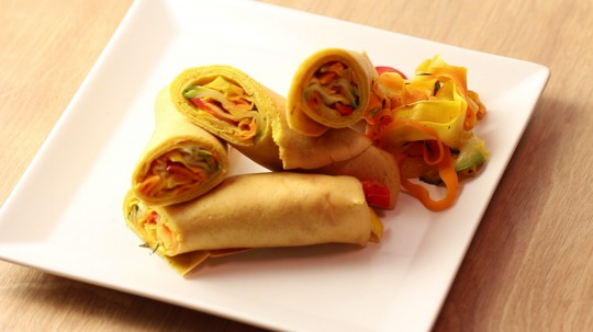 Rezept: Vegan crepes with vegetable filling