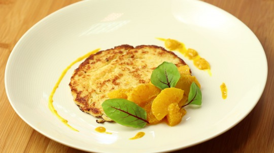 Rezept: Low Carb Blumenkohl-Toast mit Curry und Orange