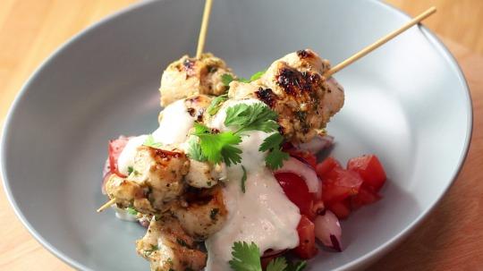 Rezept: Low Carb Griechische Hähnchen Souvlaki