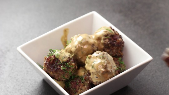 Rezept: Swedish meatballs in creamy sauce