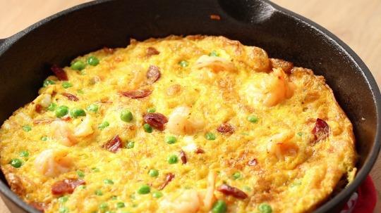 Rezept: Garnelen-Chorizo Frittata