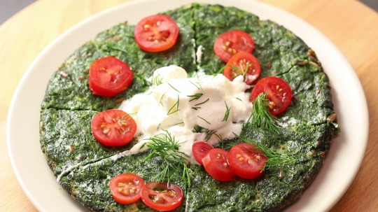 Rezept: Low Carb Spinatpfannkuchen