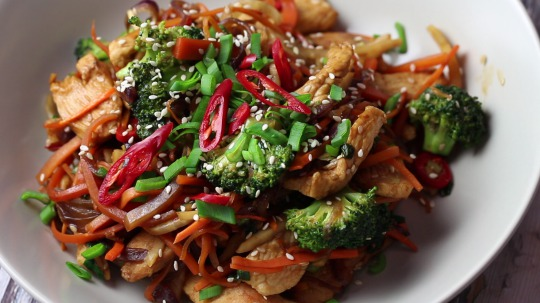 Rezept: Low Carb Chicken Breast and Vegetable Wok