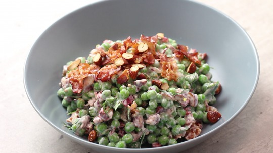 Recipe: Low Carb Green Pea Salad with Bacon