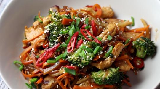 Rezept: Low Carb Hähnchenbrust-Gemüse Wok
