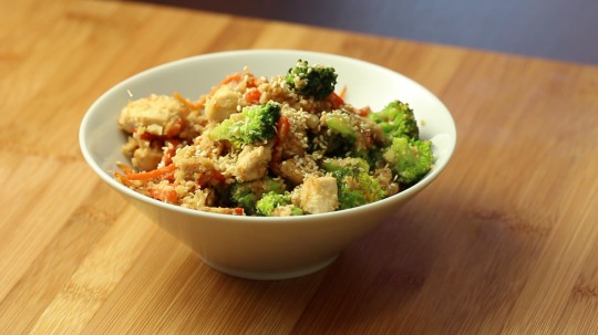 Rezept: Cauliflower rice with chicken breast