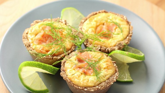 Recipe: Low Carb Cream cheese salmon muffins