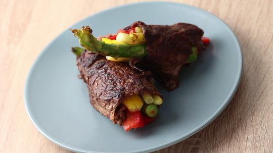 Rezept: Low Carb Rinderrouladen mit blanchiertem Gemüse