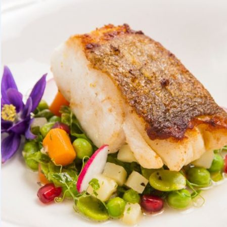 Seared Cod with Summer Vegetables