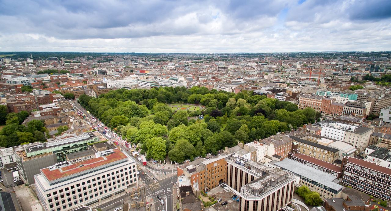 St. Stephen's Green Aerial Photo