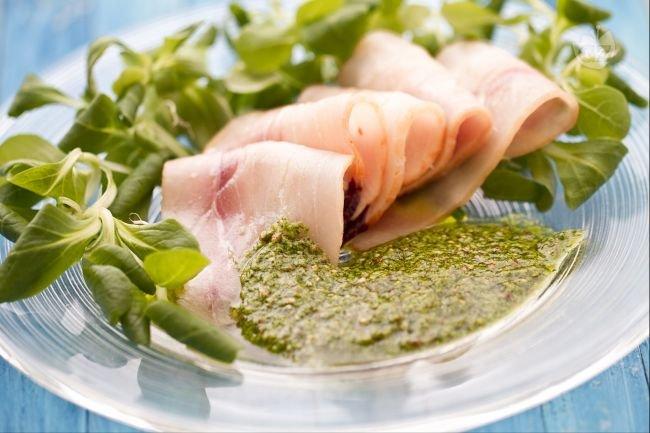 Swordfish with mustard green sauce