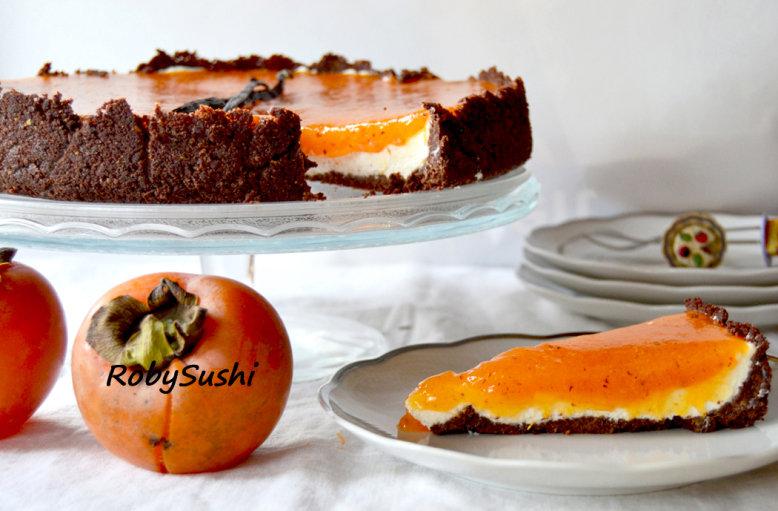 Cheesecake vaniglia e cachi