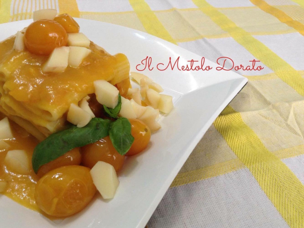 Paccheri al pomodorino giallo