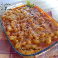 Gnocchi di patate gratinati al forno