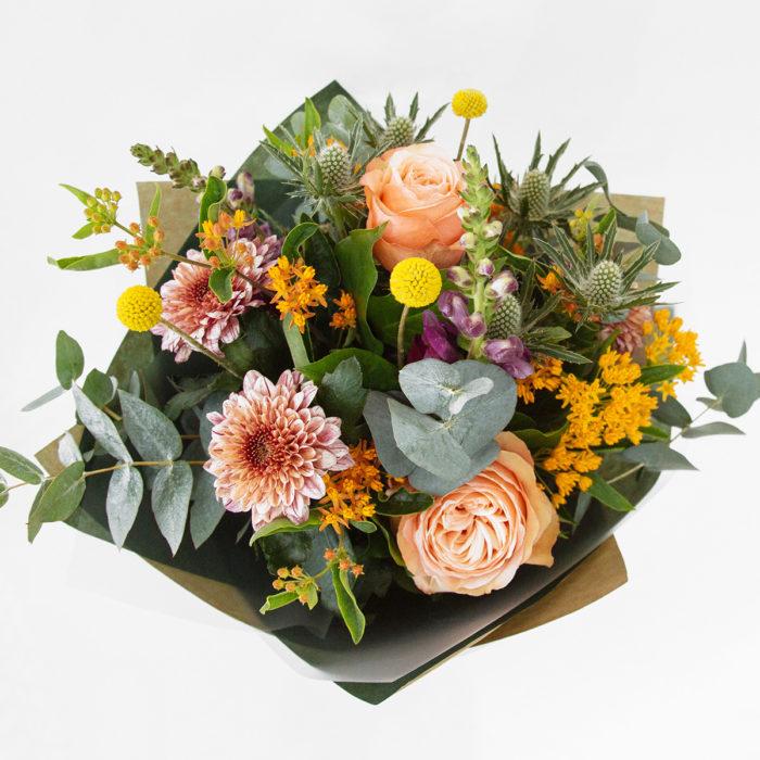 Floom Botanique Workshop Esclepias Craspedia Rose 2
