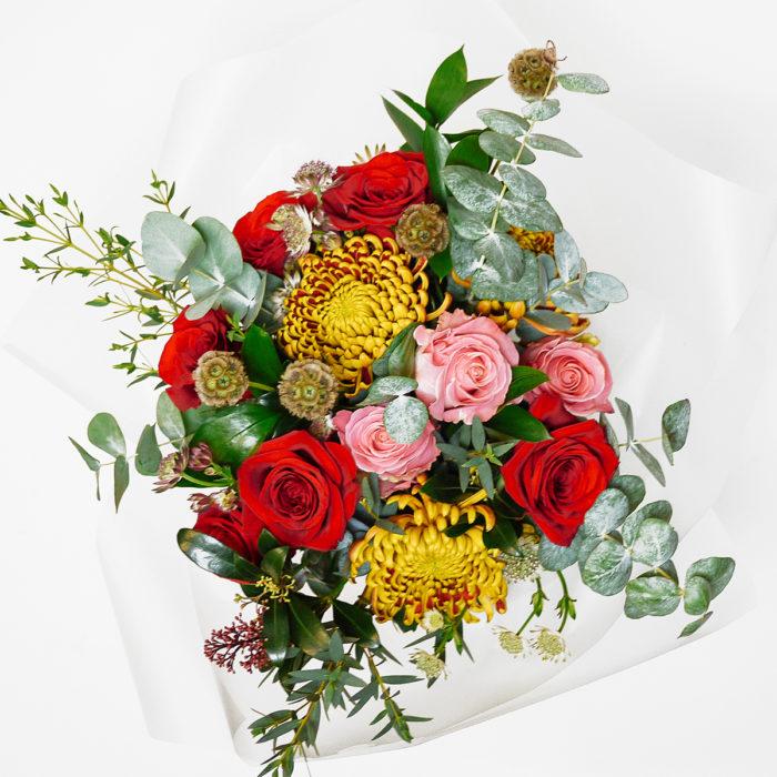 Floom Harleys Flowers Red Rose Chrysanthemum 2