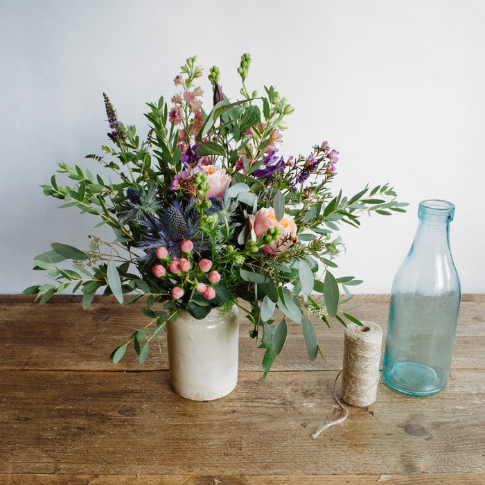 Floom Herbert Isles Earthenware Vase Rose Waxflower 3