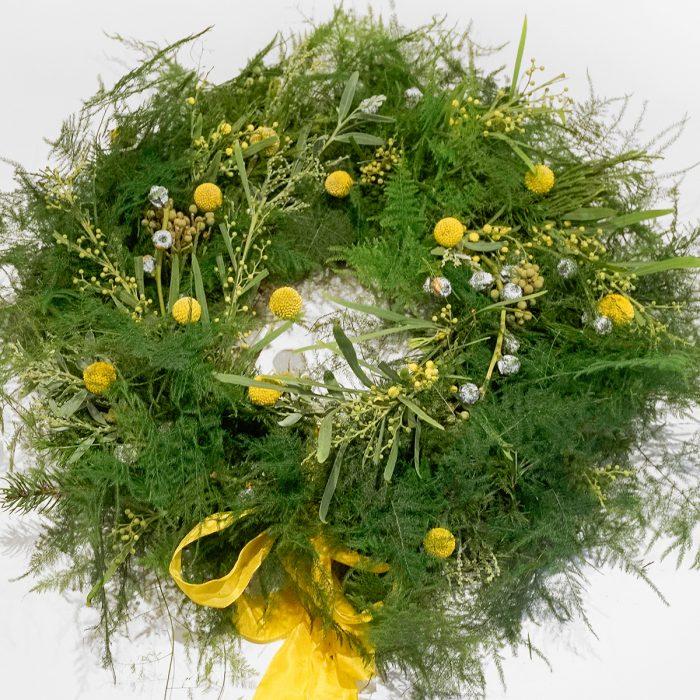 Floom Larkspur Lavender Wreath Green Craspedia 1