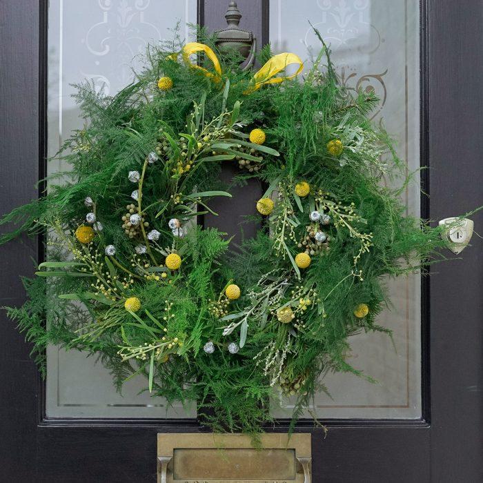 Floom Larkspur Lavender Wreath Green Craspedia 2